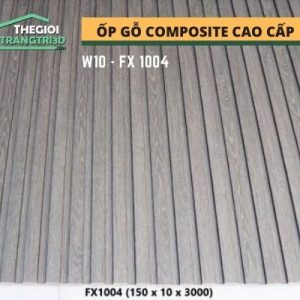Ốp tường gỗ composite cao cấp - lamri nhựa gỗ GPWood W10 FX1004