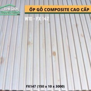 Ốp tường gỗ composite cao cấp - lamri nhựa gỗ GPWood W10 FX147