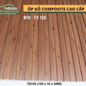 Ốp tường gỗ composite cao cấp - lamri nhựa gỗ GPWood W10 FX150