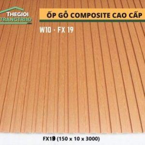 Ốp tường gỗ composite cao cấp - lamri nhựa gỗ GPWood W10 FX19