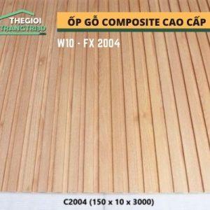 Ốp tường gỗ composite cao cấp - lamri nhựa gỗ GPWood W10 FC2004