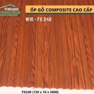 Ốp tường gỗ composite cao cấp - lamri nhựa gỗ GPWood W10 FX240