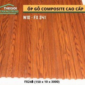 Ốp tường gỗ composite cao cấp - lamri nhựa gỗ GPWood W10 FX241