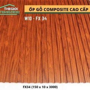Ốp tường gỗ composite cao cấp - lamri nhựa gỗ GPWood W10 FX34