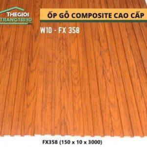 Ốp tường gỗ composite cao cấp - lamri nhựa gỗ GPWood W10 FX358