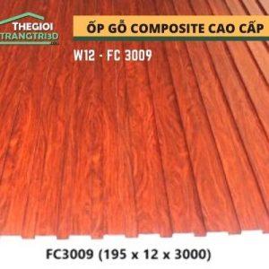 Ốp tường gỗ composite cao cấp - lamri nhựa gỗ GPWood W12 FC3009