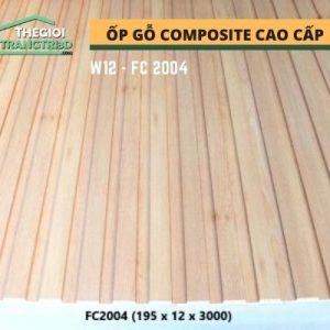 Ốp tường gỗ composite cao cấp - lamri nhựa gỗ GPWood W12 FC2004