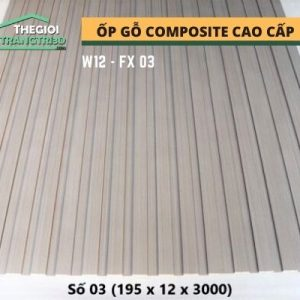 Ốp tường gỗ composite cao cấp - lamri nhựa gỗ GPWood W12 FX03