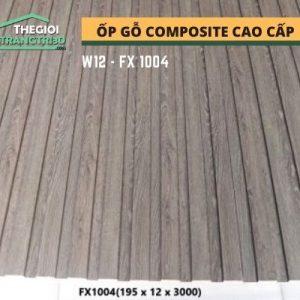 Ốp tường gỗ composite cao cấp - lamri nhựa gỗ GPWood W12 FX1004