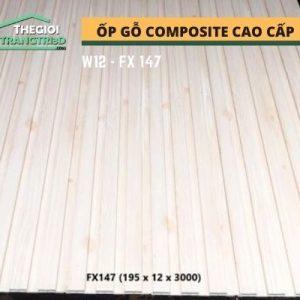 Ốp tường gỗ composite cao cấp - lamri nhựa gỗ GPWood W12 FX147