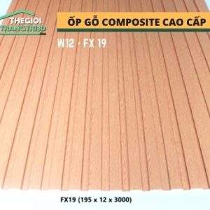 Ốp tường gỗ composite cao cấp - lamri nhựa gỗ GPWood W12 FX19