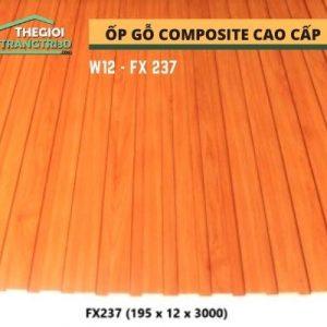 Ốp tường gỗ composite cao cấp - lamri nhựa gỗ GPWood W12 FX237