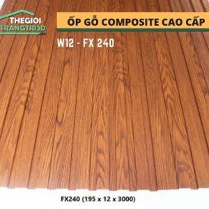 Ốp tường gỗ composite cao cấp - lamri nhựa gỗ GPWood W12 FX240