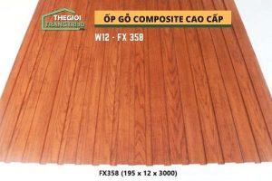 Ốp tường gỗ composite cao cấp - lamri nhựa gỗ GPWood W12 FX358