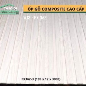 Ốp tường gỗ composite cao cấp - lamri nhựa gỗ GPWood W12 FX362