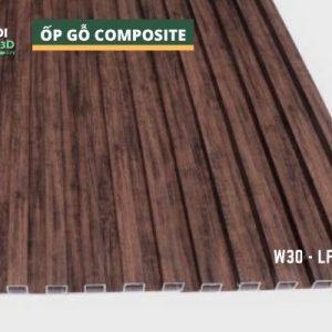 Tấm ốp gỗ nhựa composite - lamri vân gỗ GPWood W30 LFQ 006