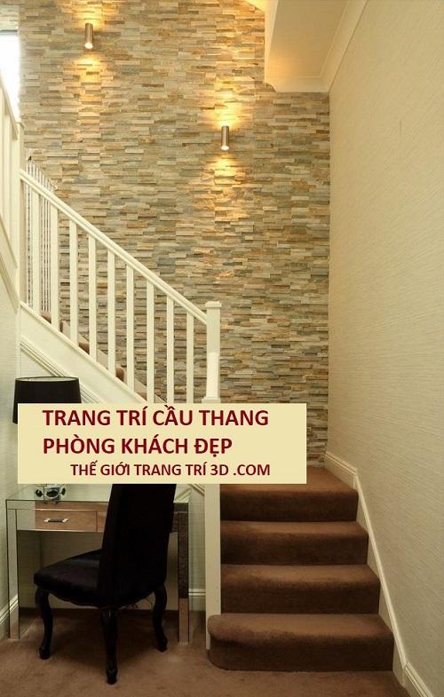 vật liệu trang trí cầu thang phòng khách đẹp ở đâu?