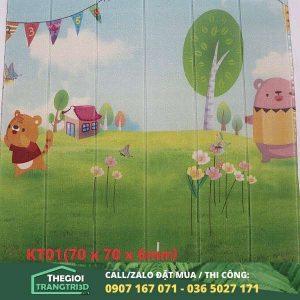 Tấm xốp dán tường hoạt hình phòng trẻ em 01