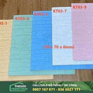 Tấm xốp dán tường gạch hoạt hình trẻ em 03 - 6mm