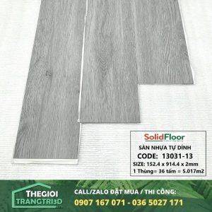 Sàn nhựa vân gỗ tự dán Solid Floor 13031