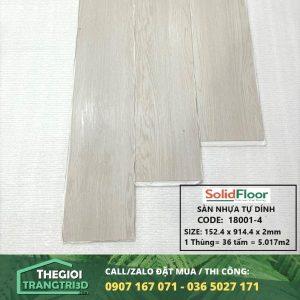 Sàn nhựa vân gỗ tự dán Solid Floor 18001