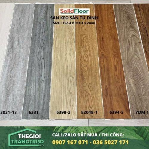 Sàn nhựa vân gỗ tự dán Solid Floor