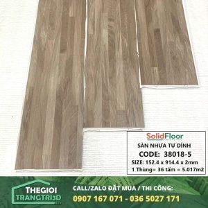 Sàn nhựa vân gỗ tự dán Solid Floor 38018