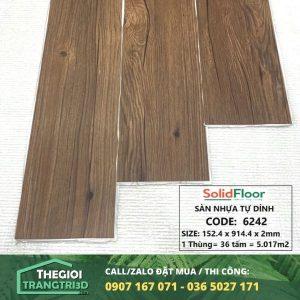 Sàn nhựa vân gỗ tự dán Solid Floor 6242