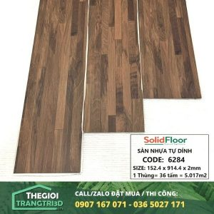 Sàn nhựa vân gỗ tự dán Solid Floor 6284