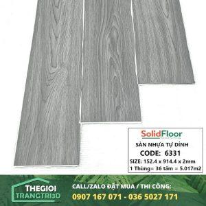 Sàn nhựa vân gỗ tự dán Solid Floor 6331