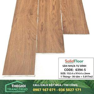 Sàn nhựa vân gỗ tự dán Solid Floor 6394