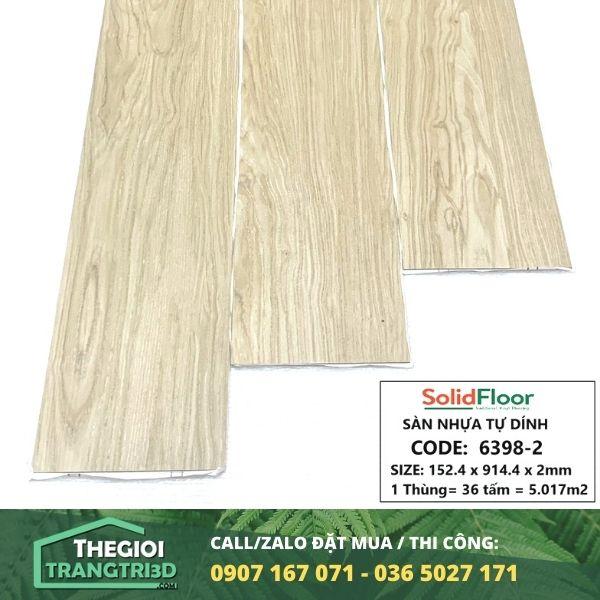 Sàn nhựa vân gỗ tự dán Solid Floor 6398