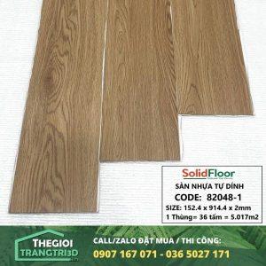 Sàn nhựa vân gỗ tự dán Solid Floor 82048