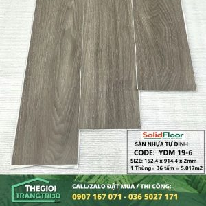 Sàn nhựa vân gỗ tự dán Solid Floor YDM19