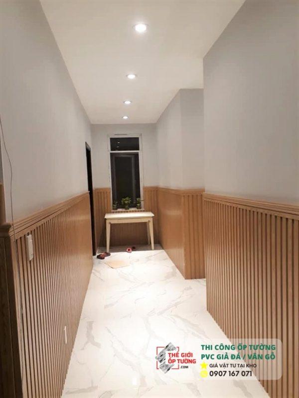 Ứng dụng tấm ốp giả gỗ trang trí cho nội thất